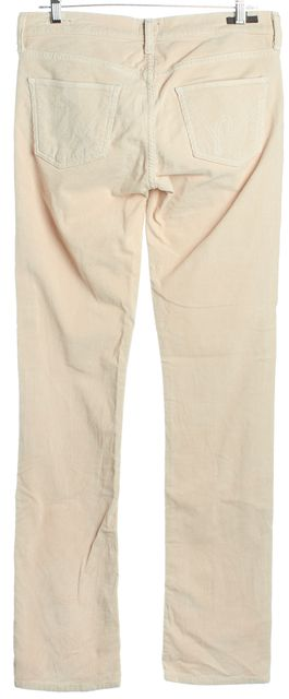 CITIZENS OF HUMANITY Beige Ava Low Rise Corduroys Pants