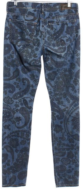 CITIZENS OF HUMANITY Medium Wash Paisley Print Skinny Jeans