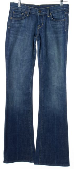 CITIZENS OF HUMANITY Blue Kelly #001 Wide Leg Bootcut Low-Rise Jeans