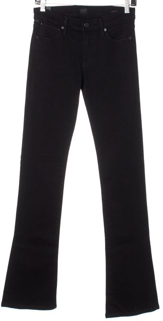 CITIZENS OF HUMANITY Black Mid-Rise Emannuelle Slim Boot Cut Jeans
