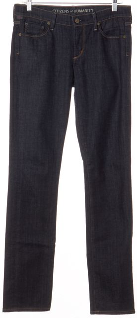CITIZENS OF HUMANITY Blue Straight Leg Classic Rise Jeans