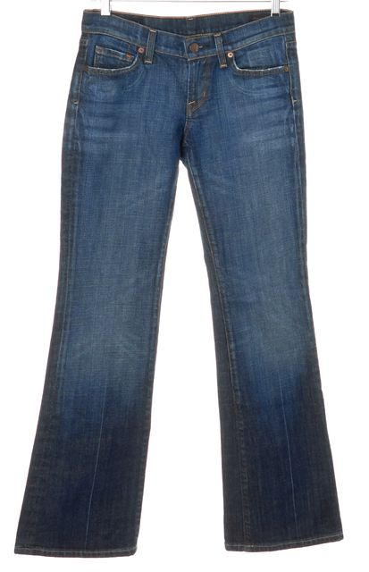 CITIZENS OF HUMANITY Blue Relaxed Fit Petite Bootcut Flare Jeans