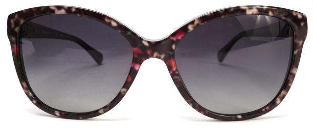 DOLCE & GABBANA Black Floral Acetate Gradient Lens Sunglasses w/ Case