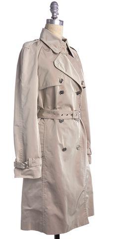 DOLCE & GABBANA Beige Trench Coat Jacket
