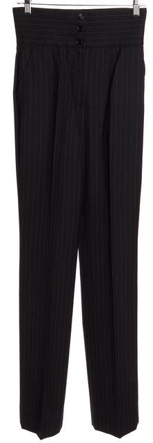 DOLCE & GABBANA Gray Wool Dress Pants