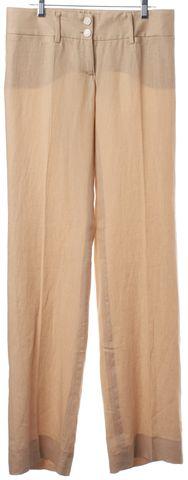 DOLCE & GABBANA Beige Wide Leg Pleated Trousers Pants