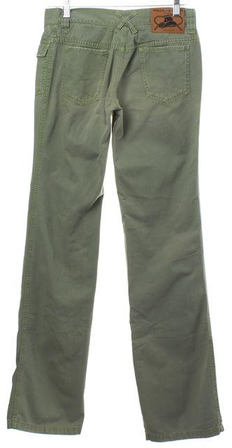 DOLCE & GABBANA Green Straight Leg Jeans