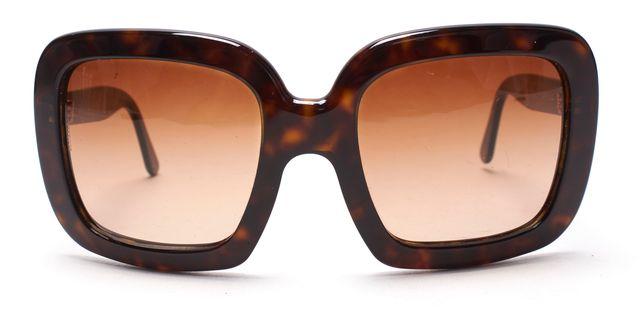 DOLCE & GABBANA Brown Tortoise Shell Square Frame Sunglasses