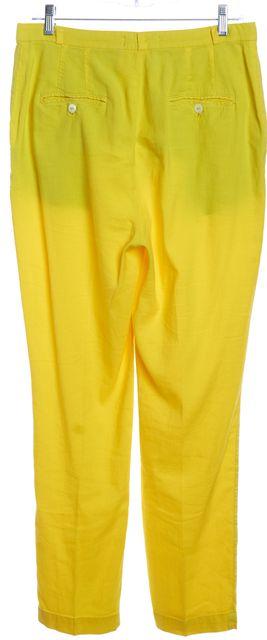 DOLCE & GABBANA Yellow Trouser Pants