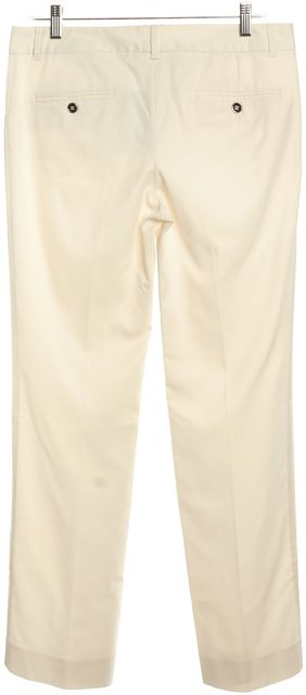 DOLCE & GABBANA White Straight Leg Trouser Pants