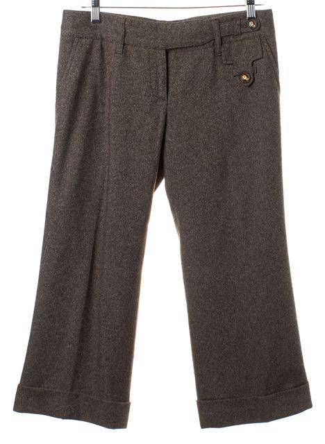 DOLCE & GABBANA Brown Wool Trousers Pants