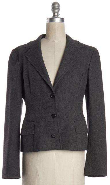 DOLCE & GABBANA Gray Wool Blend Herringbone Blazer