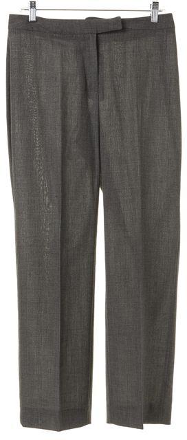 DOLCE & GABBANA Gray Wool Trousers Dress Pants