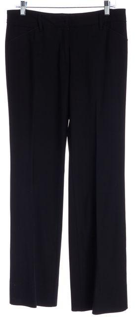 DOLCE & GABBANA Black Wool Flare Trousers Pants