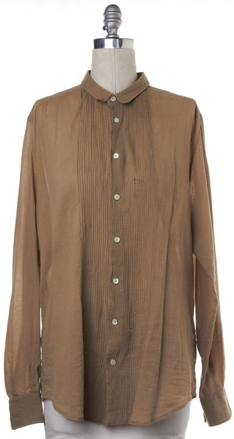 DOLCE & GABBANA Beige Button Down Shirt Top Fits Like