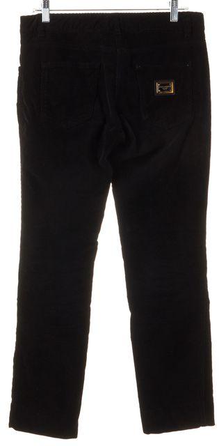 DOLCE & GABBANA Black Cotton Corduroys Pants