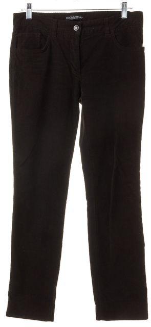 DOLCE & GABBANA Brown Cotton Corduroys Pants