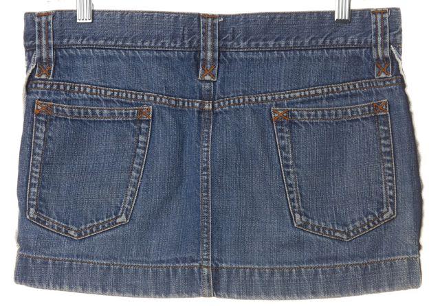 DOLCE & GABBANA Blue Denim Micro Mini Summer Skirt