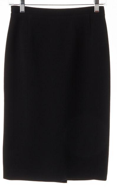 DOLCE & GABBANA Black Wool Pencil Skirt