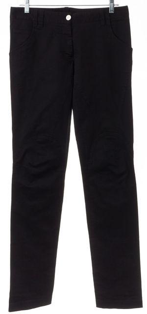 DOLCE & GABBANA Black Stretch Cotton Trouser Dress Pants