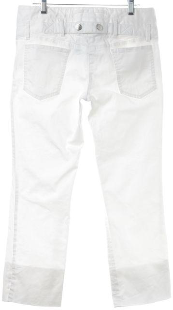 DOLCE & GABBANA White Cropped Stretch Cotton Skinny Pants