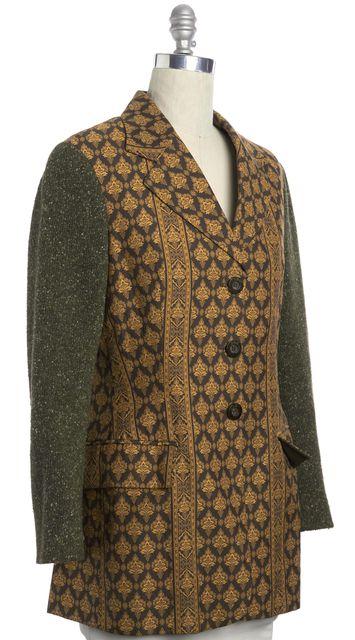 DOLCE & GABBANA Brown Olibe Multi-color Ornate Blazer Jacket
