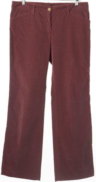 DOLCE & GABBANA Rosewood Pink Casual Corduroy Pants US 8 IT 44