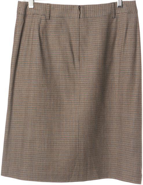 DOLCE & GABBANA Brown Plaids & Checks Pleated Skirt