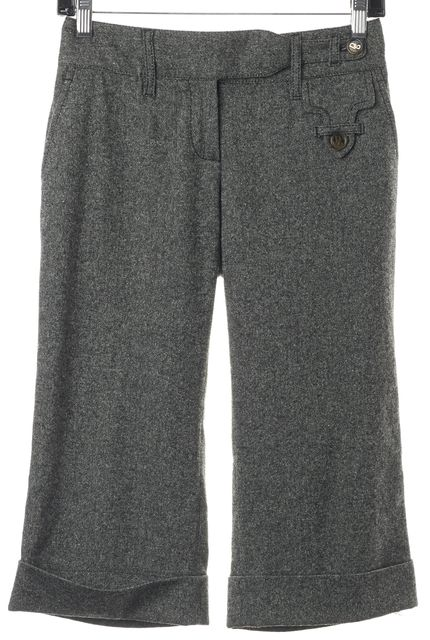 DOLCE & GABBANA Gray Pleated Bermuda Trouser Dress Shorts