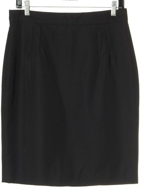 DOLCE & GABBANA Black Wool Hem Line Skirt