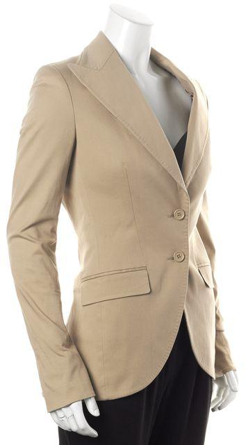 DOLCE & GABBANA Beige Two Button Basic Jacket Blazer