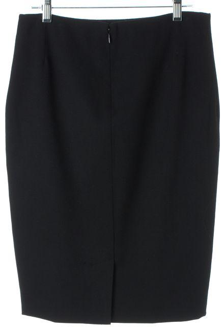 DOLCE & GABBANA Black Wool Knee-Length Straight Skirt