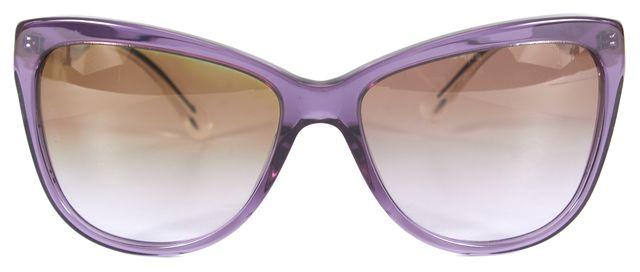 DOLCE & GABBANA Purple Acetate Frame Butterfly Gradient Lens Sunglasses