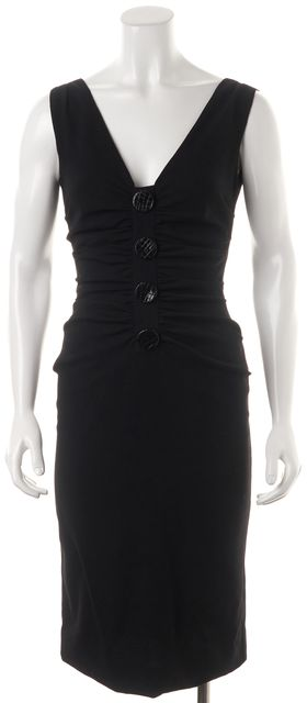 DOLCE & GABBANA Black Virgin Wool Dress