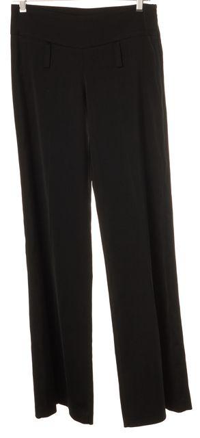 DOLCE & GABBANA Black Pleated Trouser Dress Pants