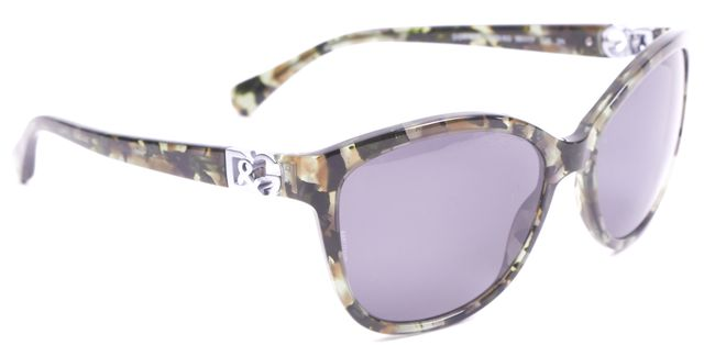 DOLCE & GABBANA Green Square Acetate Gray Lens Sunglasses