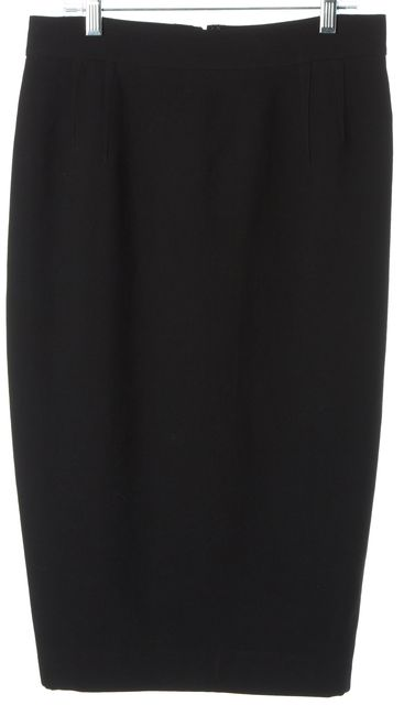 DOLCE & GABBANA Black Wool Straight Pencil Skirt