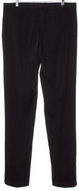 DOLCE & GABBANA Black Straight Leg Trousers Dress Pants