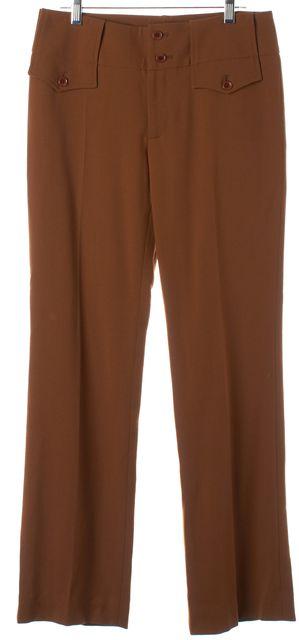 DOLCE & GABBANA Chocolate Brown Wool Trouser Pants