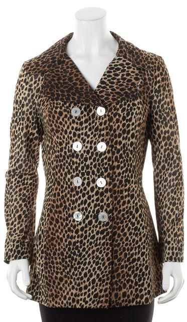 DOLCE & GABBANA Brown Black Leopard Print Basic Jacket