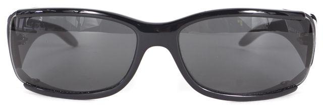 DOLCE & GABBANA Black Rectangular Shield Sunglasses w/ Case