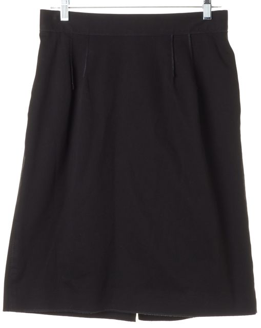 DOLCE & GABBANA Black Knee-Length A-Line Skirt