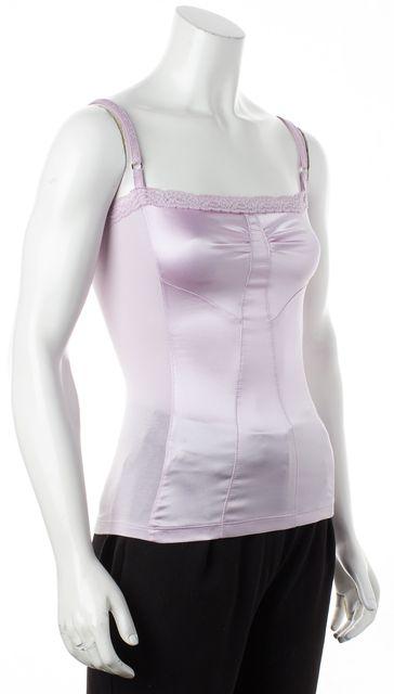 DOLCE & GABBANA Lavender Purple Silk Lace Detailed Cami Top