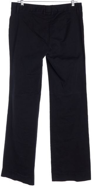 DOLCE & GABBANA Solid Deep Blue Casual Chinos Pants