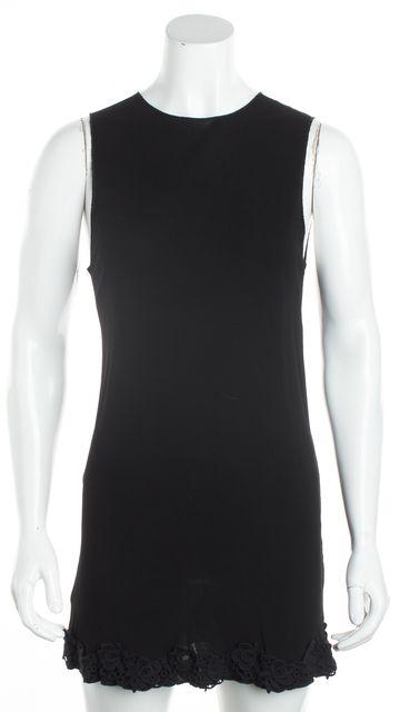 DOLCE & GABBANA Black Lace Trim Tunic Dress