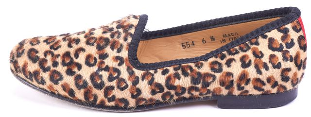 DEL TORO Brown Animal Print Loafers