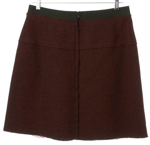 D&G Burgundy Red Mini Wool Skirt