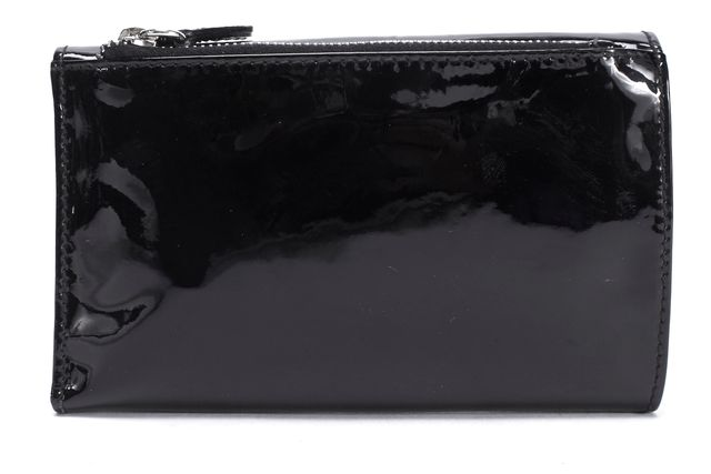 D&G Black Patent Leather Silver Lock Wallet