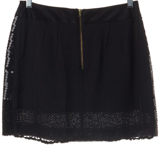 D&G Black Sequin Mini Skirt Size 6 IT 42