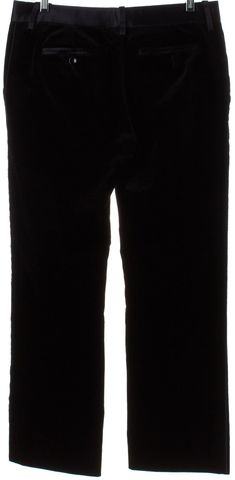 D&G Black Velvet Straight Leg Dress Pants